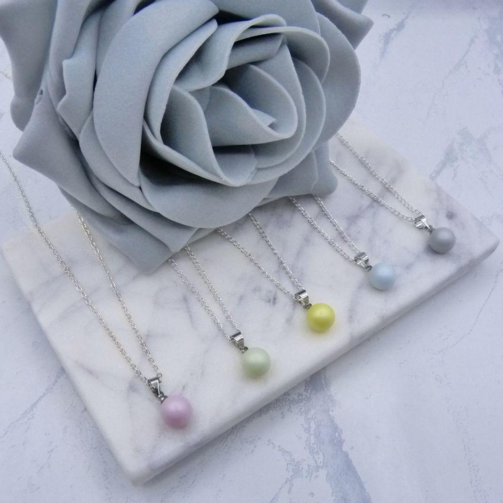 Jodie Flower Girl Pearl Pendant