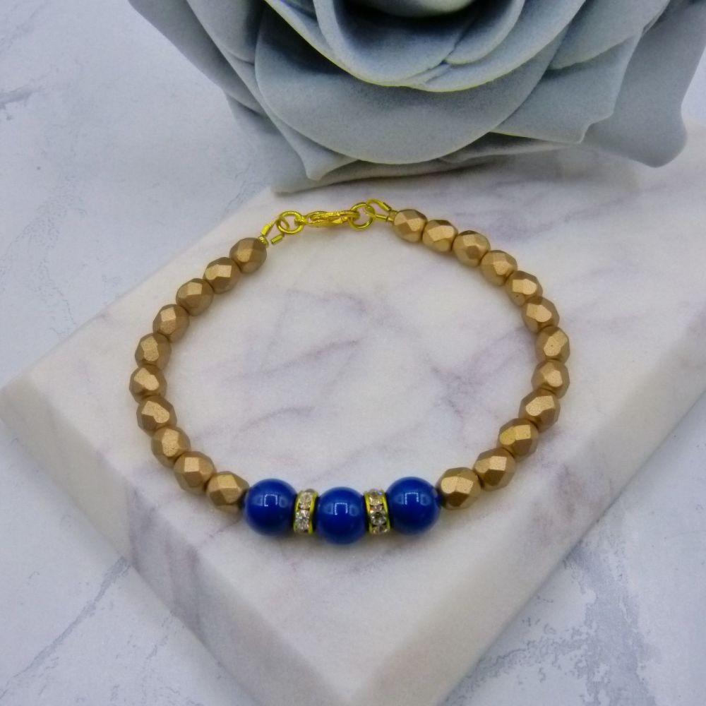 Christina Pearl & Czech Crystal Bridesmaid Bracelet
