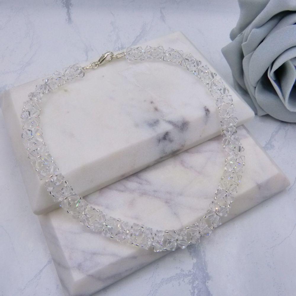Monroe Crystal Beaded Bridal Choker