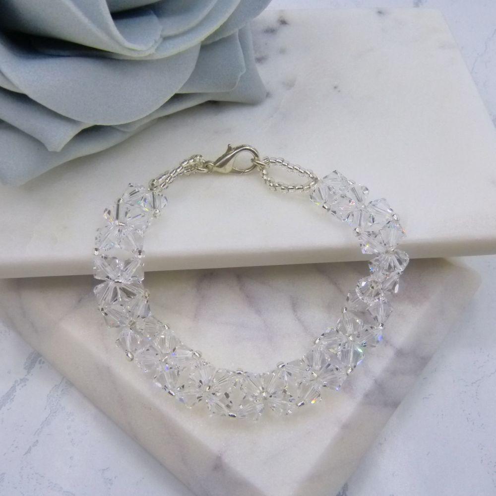 Monroe Crystal Beaded Bridal Bracelet