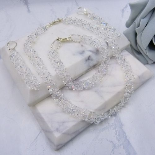 Swarovski Crystal 3 piece Bridal Jewellery set