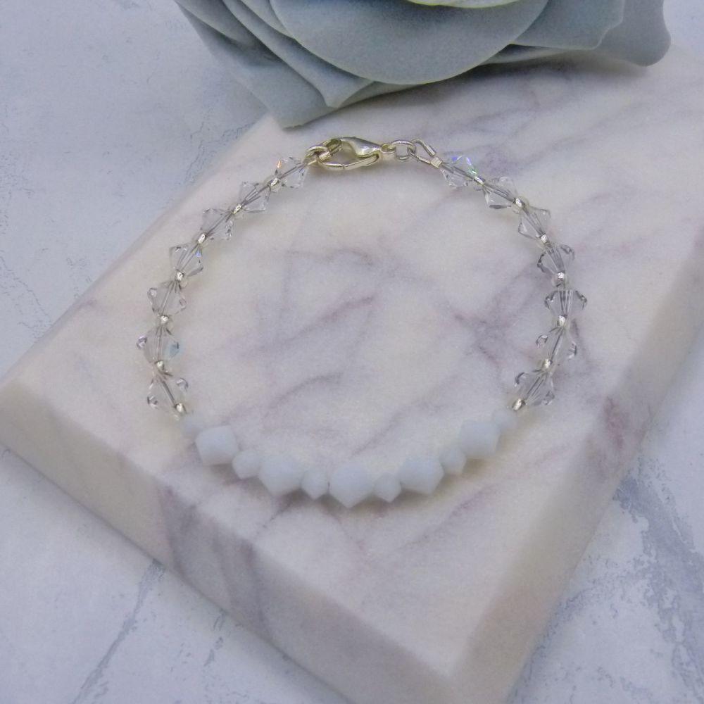 Bryony Crystal & Pearl Bridal Bracelet