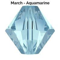 MARCH BIRTHSTONE - Swarovski Crystal