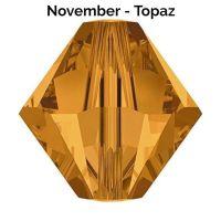 NOVEMBER BIRTHSTONE - Swarovski Crystal