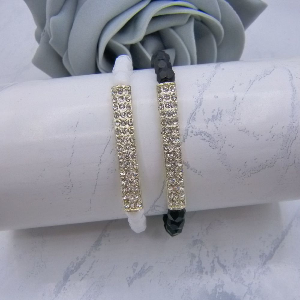 Diamante Bar Stretch Bracelet