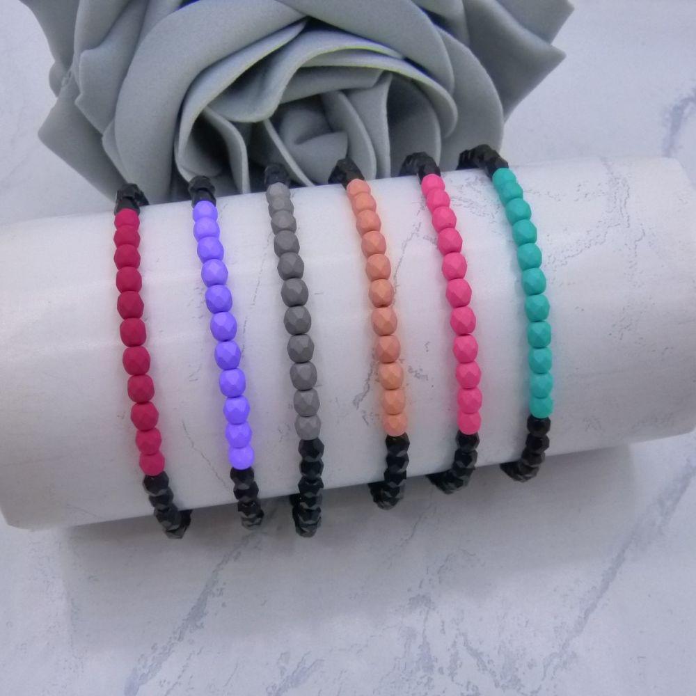 Dolly Matt Finish Stretch Bracelets