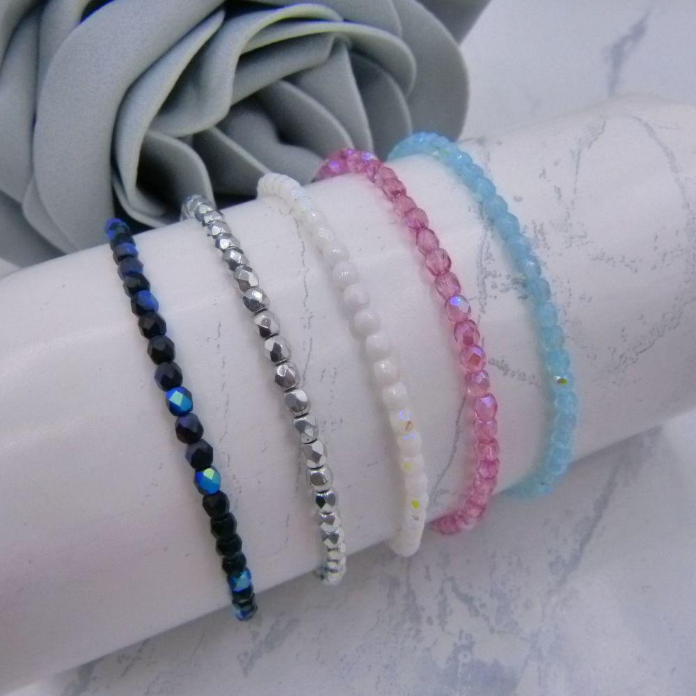 Set of 5 Opaque AB Bracelets