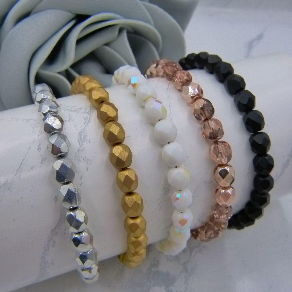 Czech Crystal Base Colour Bracelets