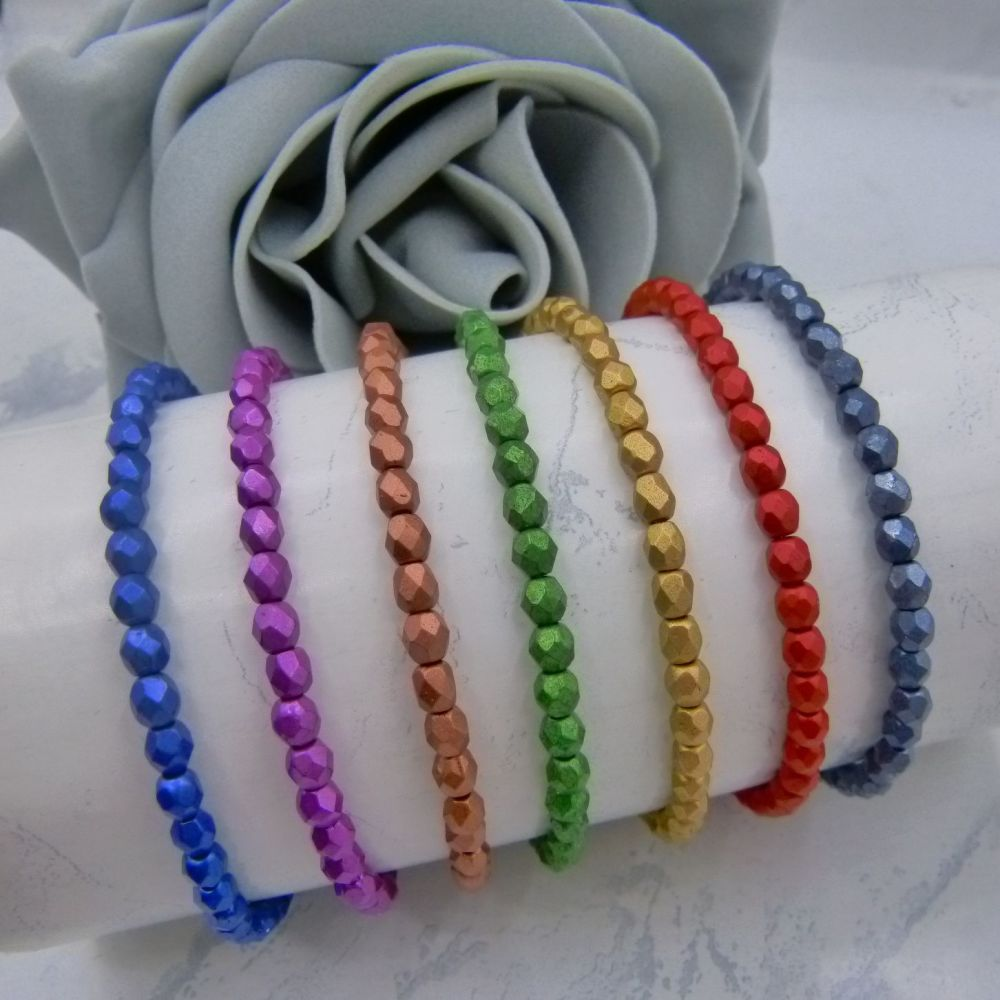 Matt Metallic Stacking Bracelets