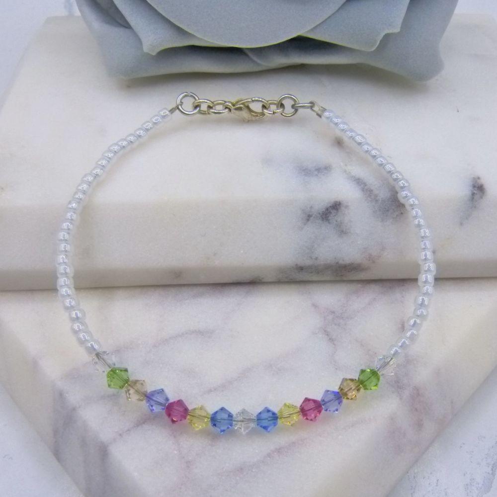 Ella Pastel Crystal Bracelet