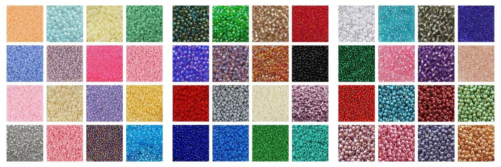 ALL SEED BEAD COLOURS