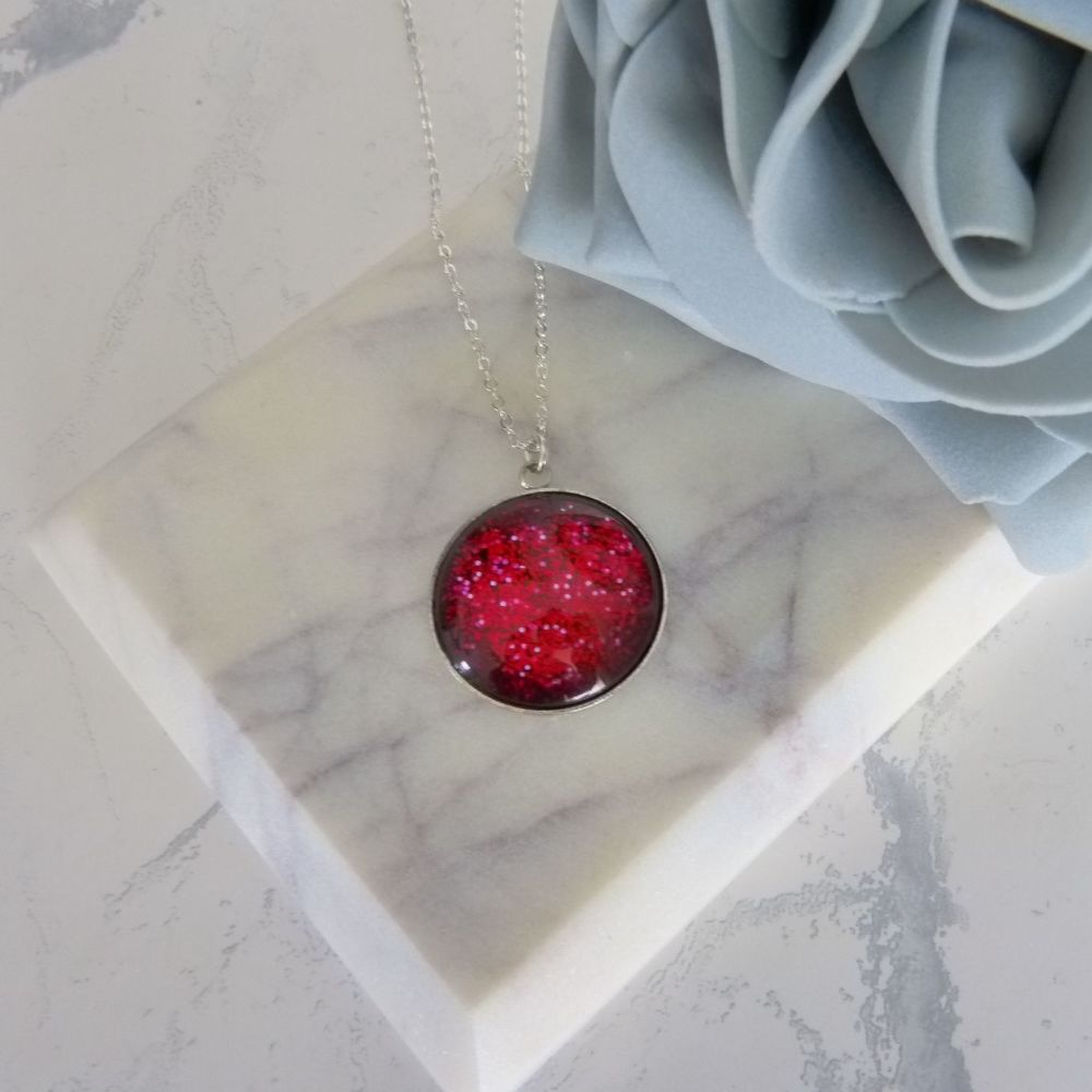 Red Glitter Pendant