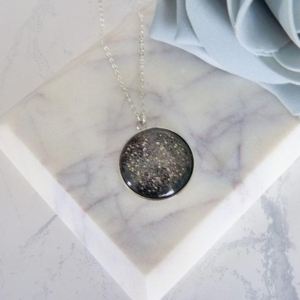 Silver Glitter Pendant