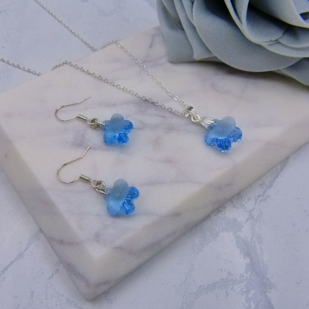 Primrose Aqua Blue Jewellery Set