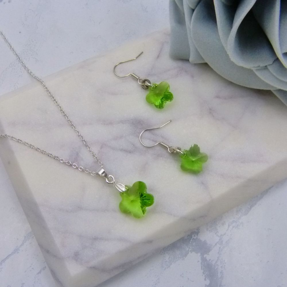 Primrose Peridot Green Jewellery Set