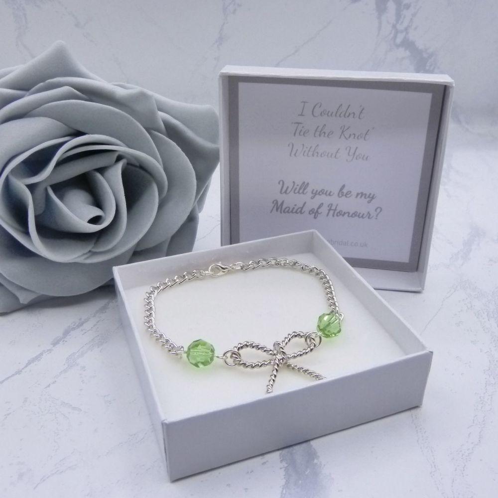 Crystal Knot Bracelet