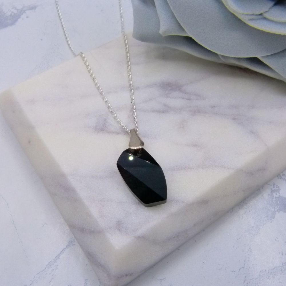 Black Crystal Pendant