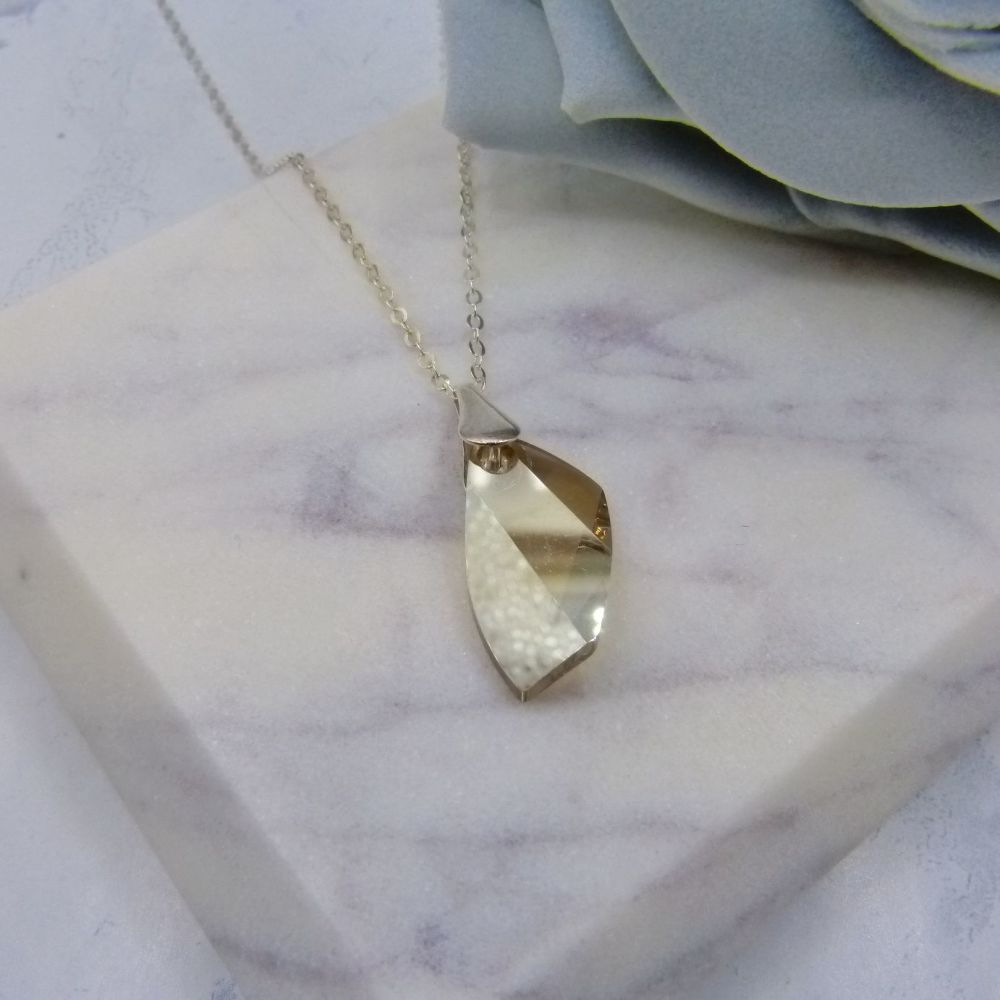 Golden Crystal Pendant