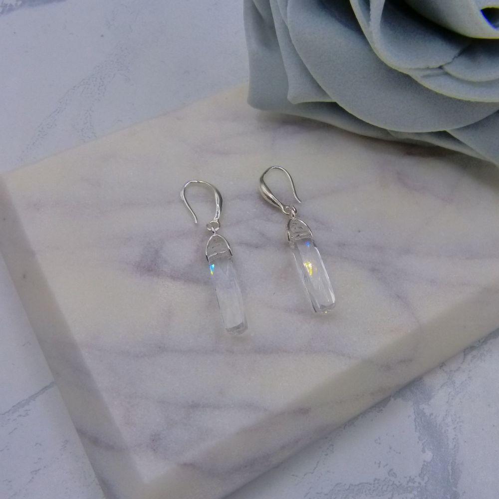 Crystal Column Earrings