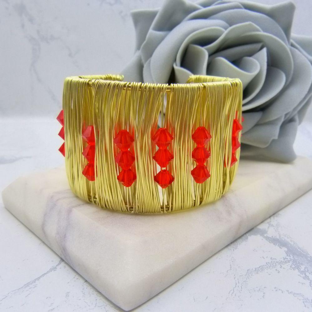 Gold Wrist Cuff