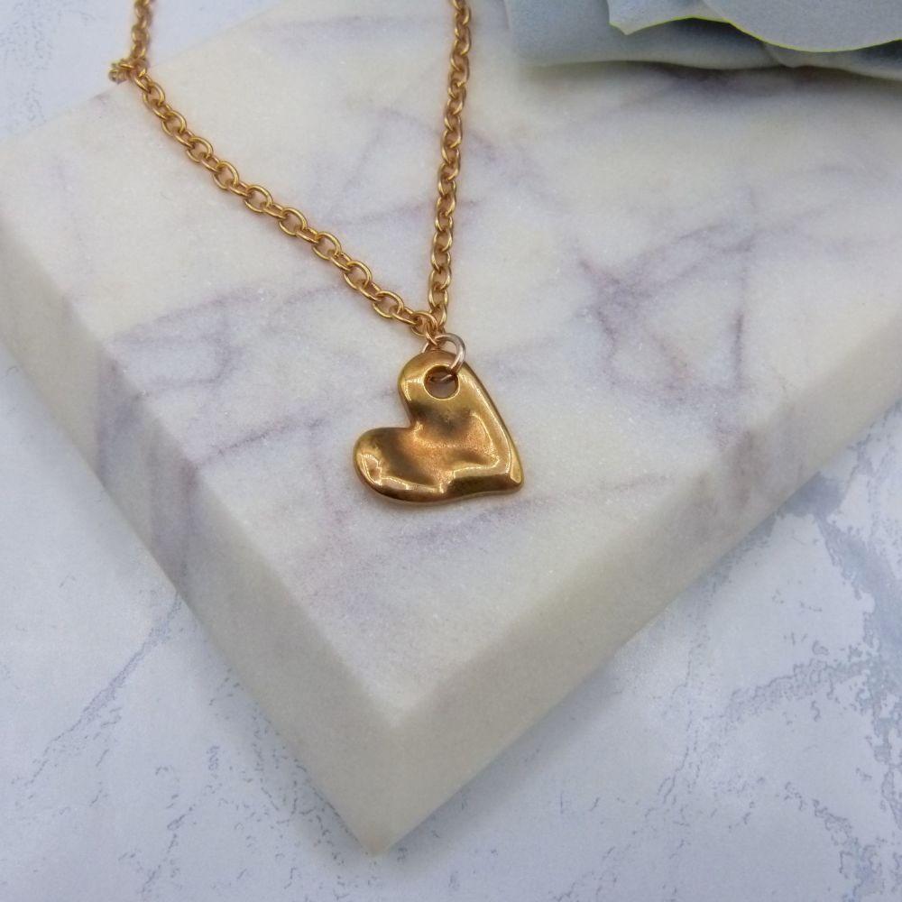 Rose Gold Heart Pendant