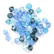 Blue Crystal & Pearl Jewellery