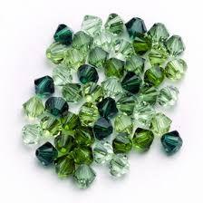 Green Crystal & Pearl Jewellery