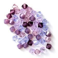 Purple Crystal & Pearl Jewellery