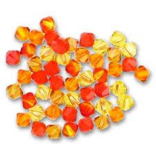 Orange & Yellow Crystal & Pearl Jewellery