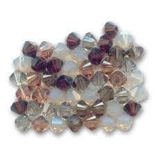 Cream & Brown Crystal & Pearl Jewellery