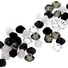 Black & White Crystal & Pearl Jewellery