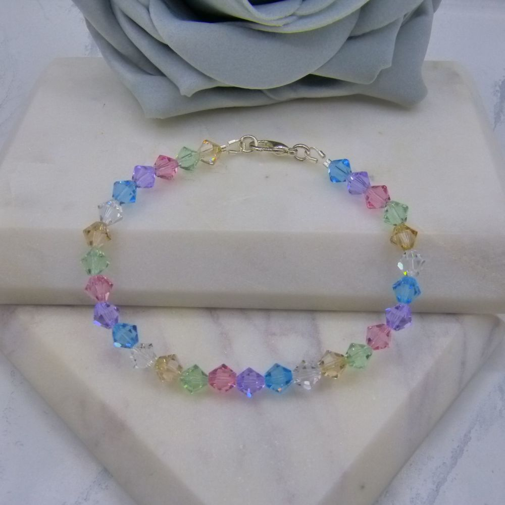 Pastel Coloured Crystal Bracelet