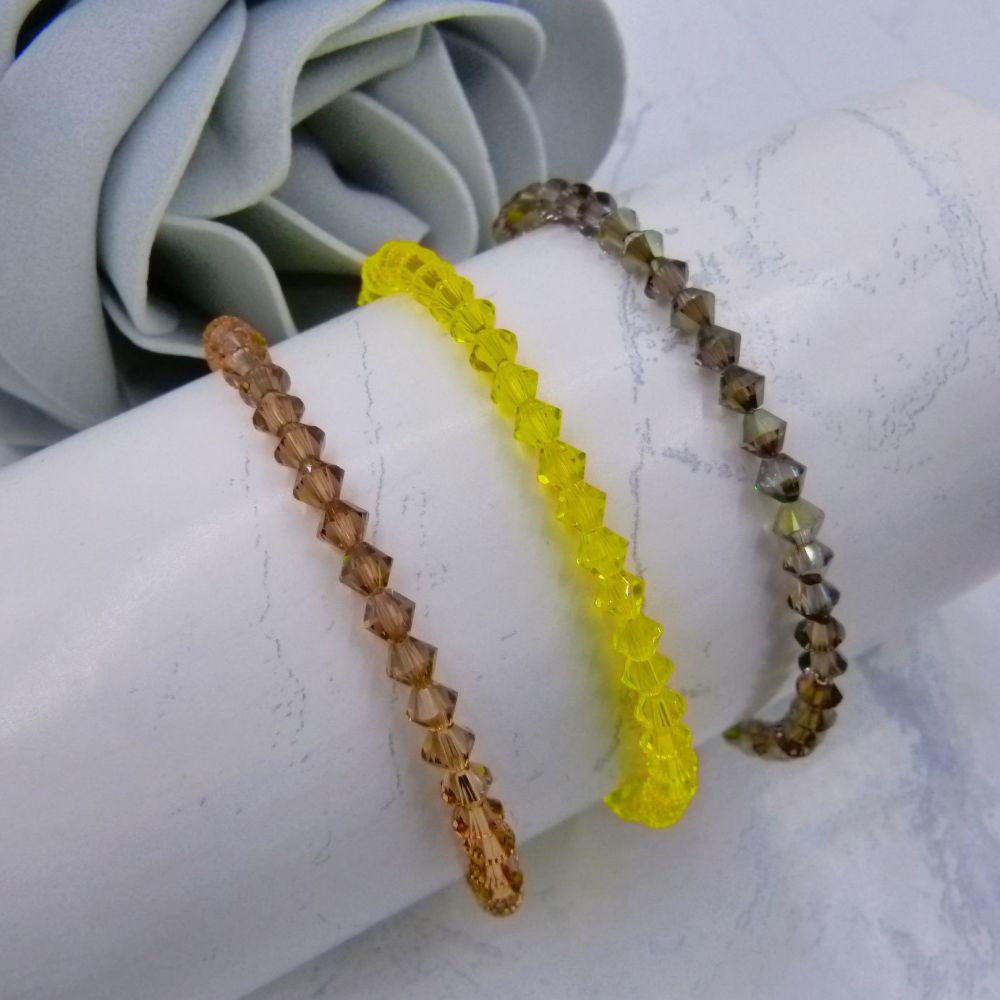 Set of 3 Crystal Bracelets