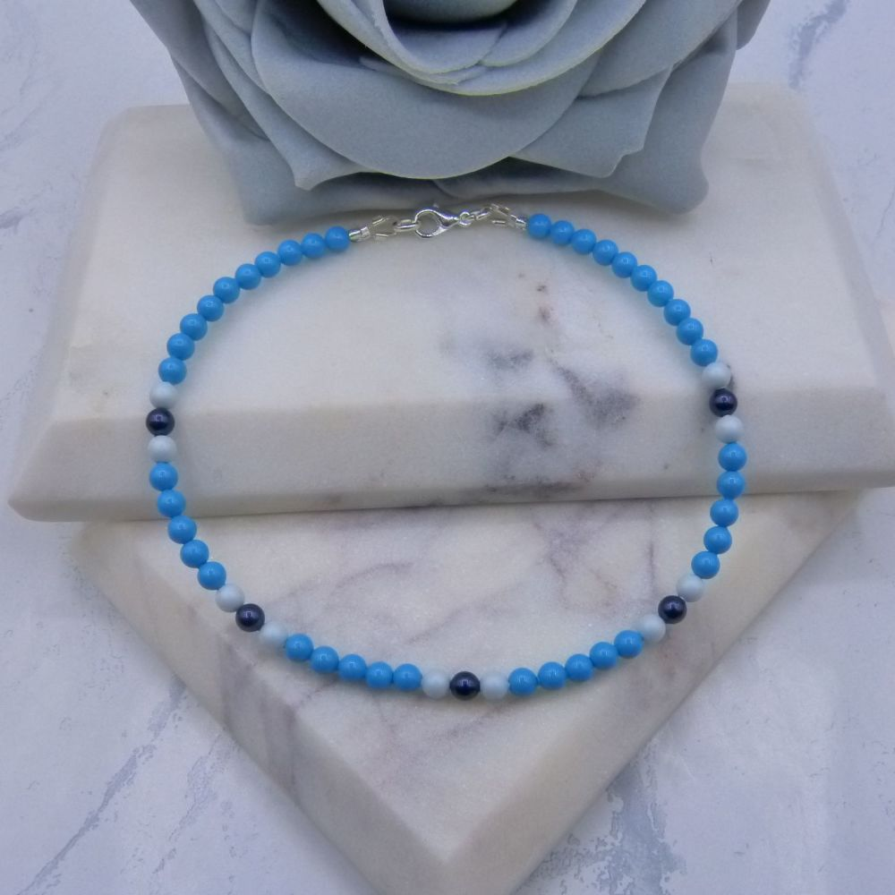 Turquoise Pearl Anklet