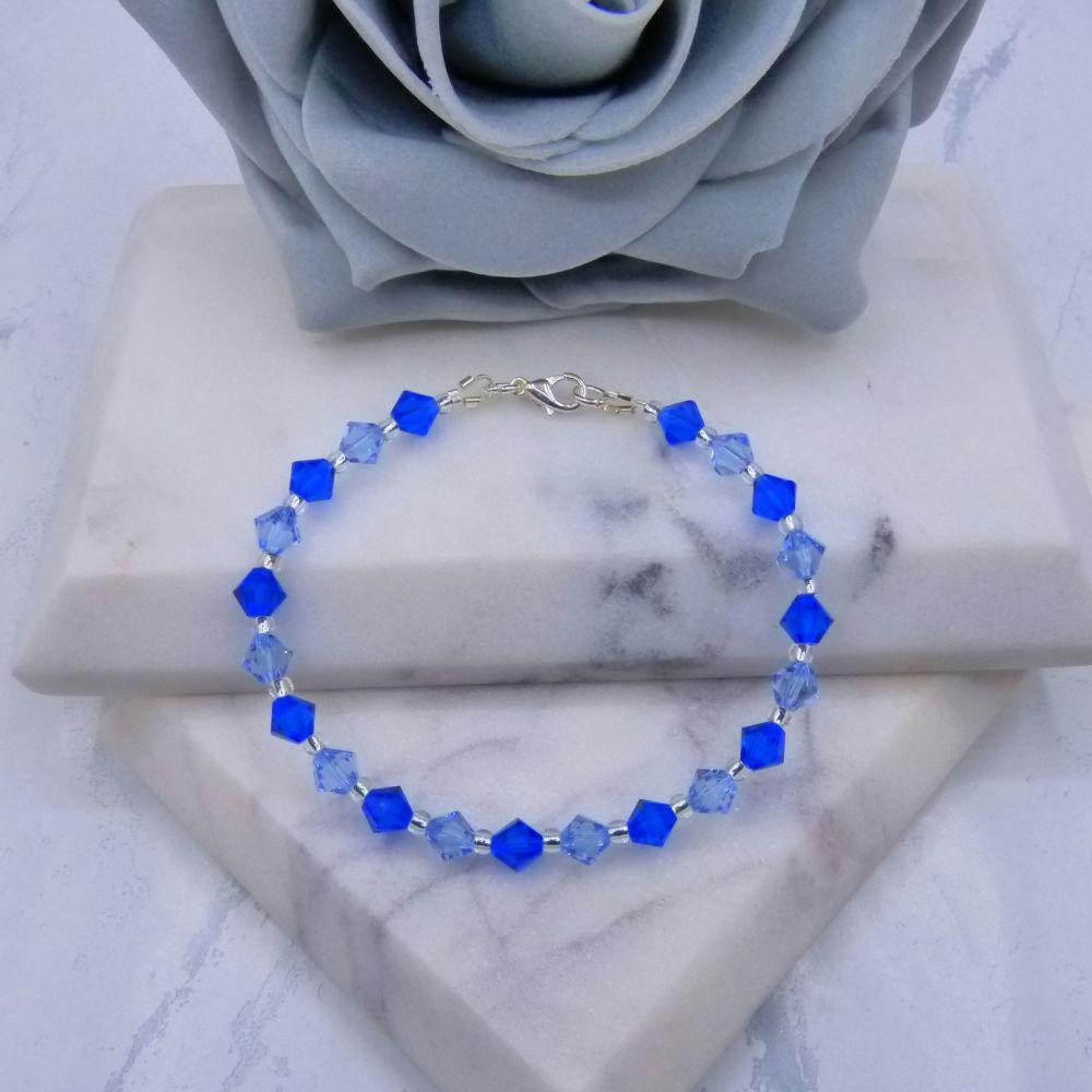Majestic Blue & Light Sapphire Crystal Bracelet