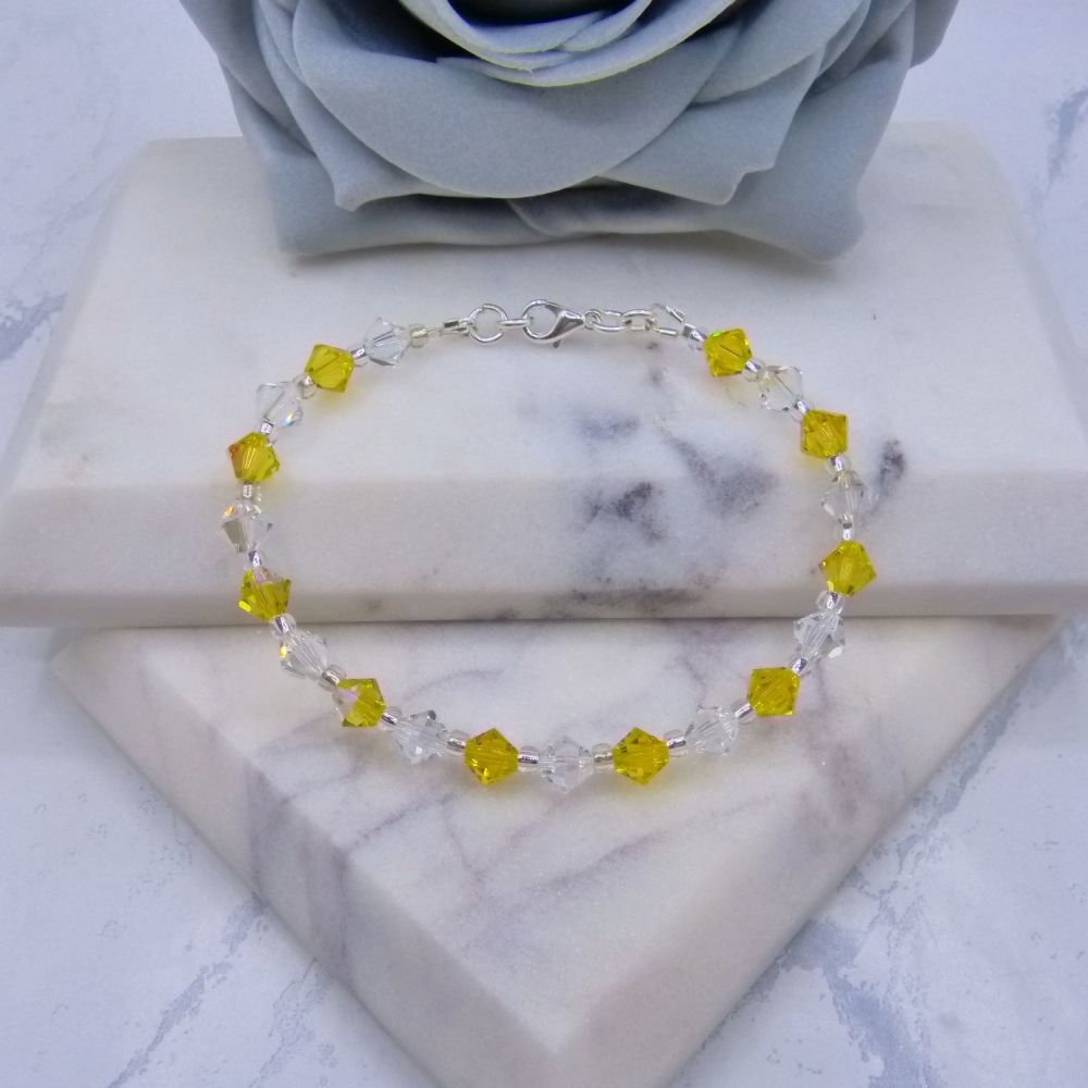 Topaz Shimmer & Moonlight Crystal Bracelet