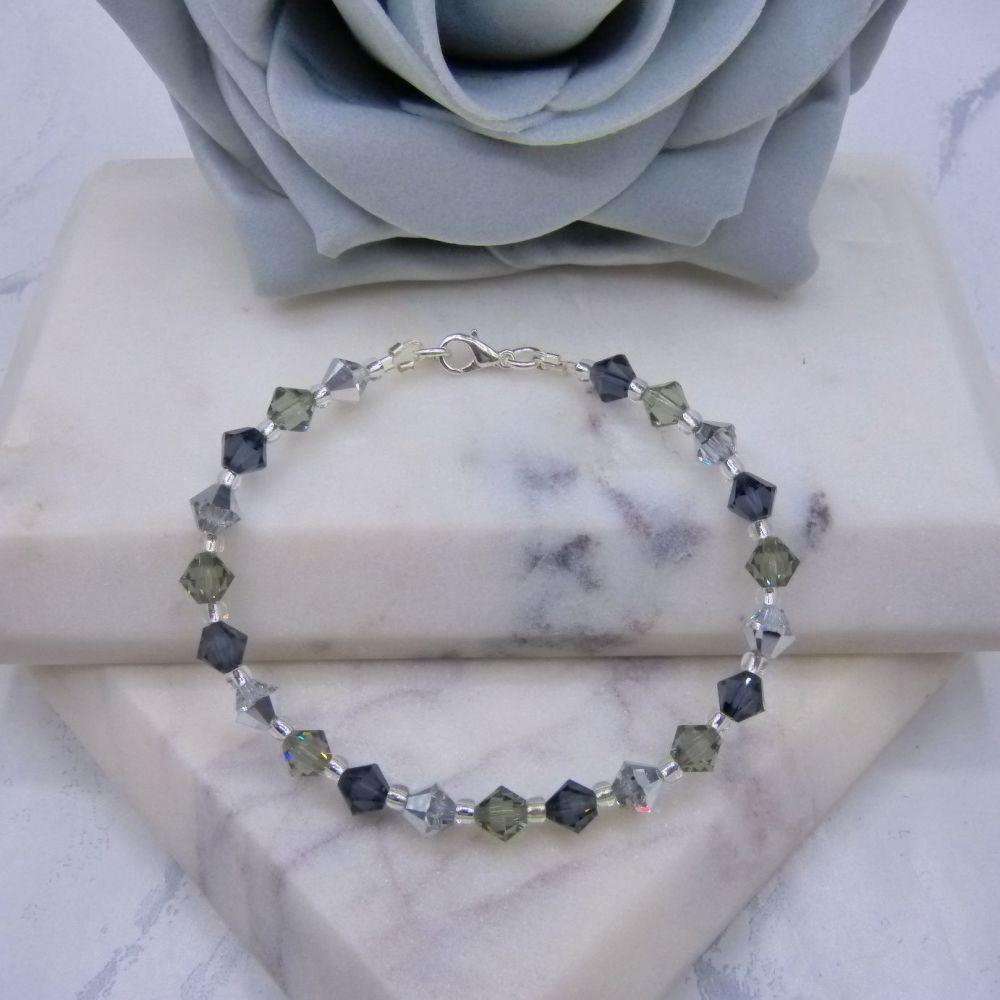 Grey & Silver Crystal Bracelet