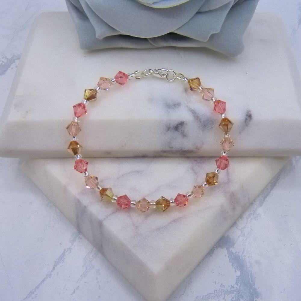 Peachy Crystal Bracelet