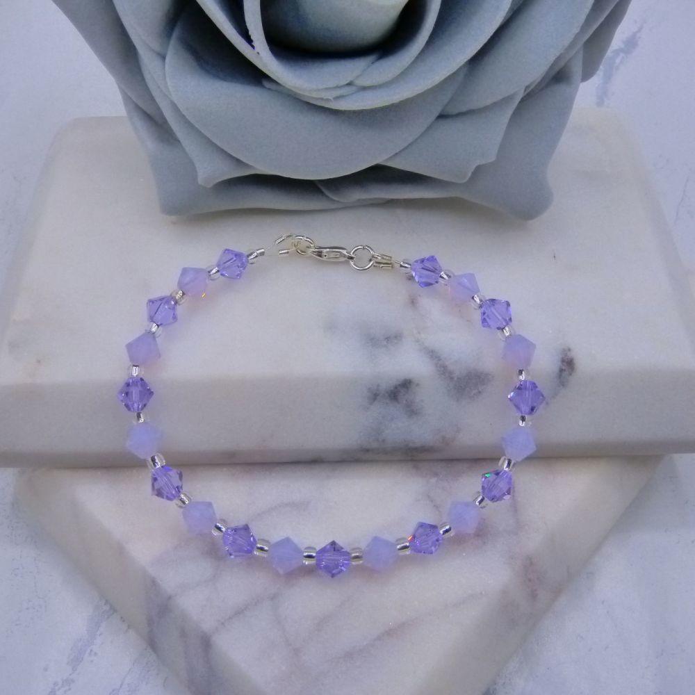 Violet & Violet Opal Crystal Bracelet