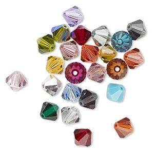 Mixed Colour Crystal & Pearl Jewellery