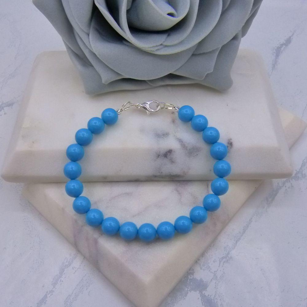 Turquoise Large Pearl Bracelet