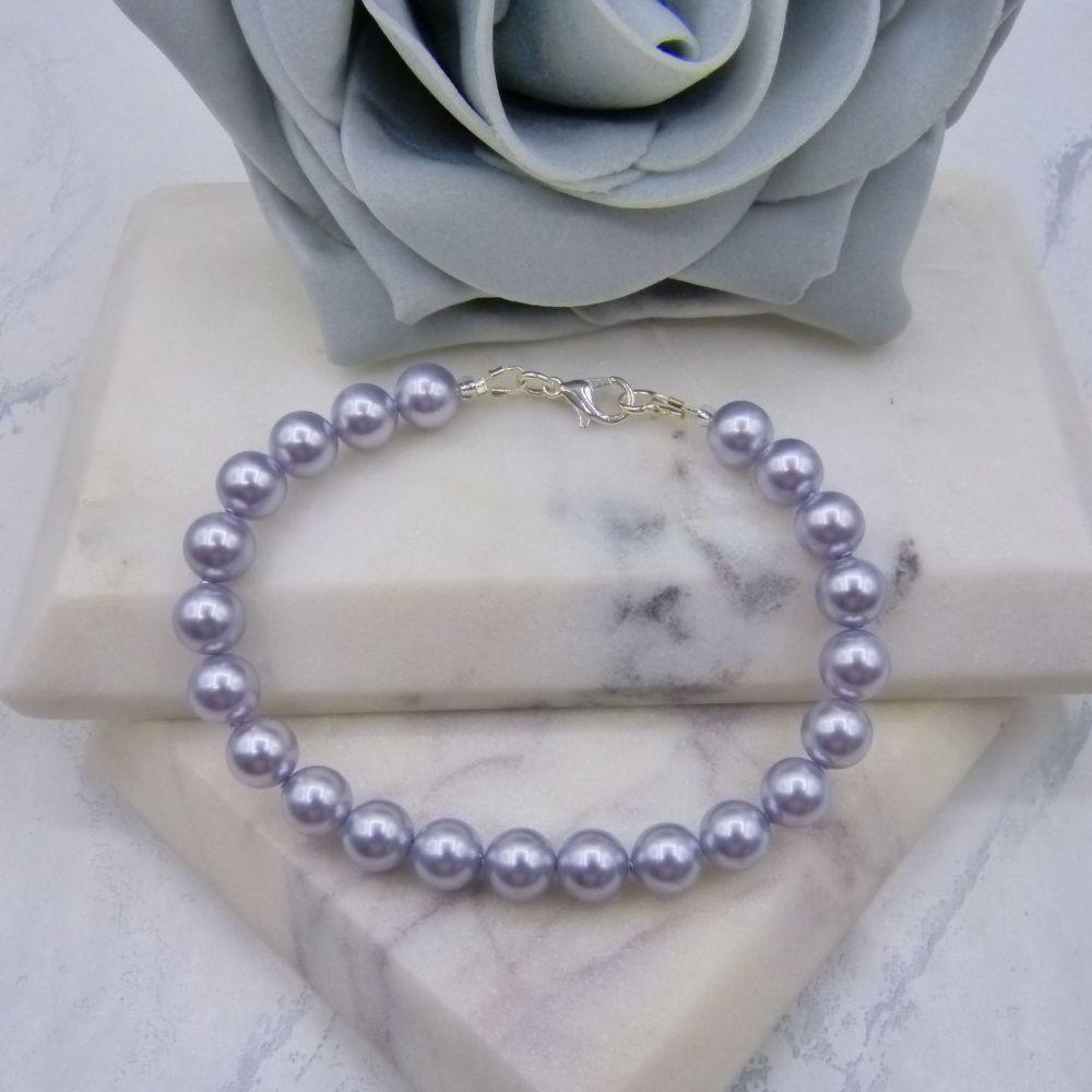 Lavender Large Pearl Bracelet