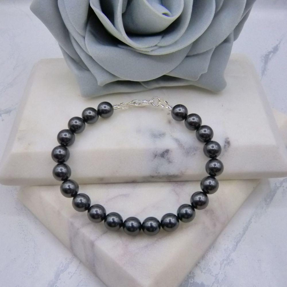 Black Large Pearl Bracelet