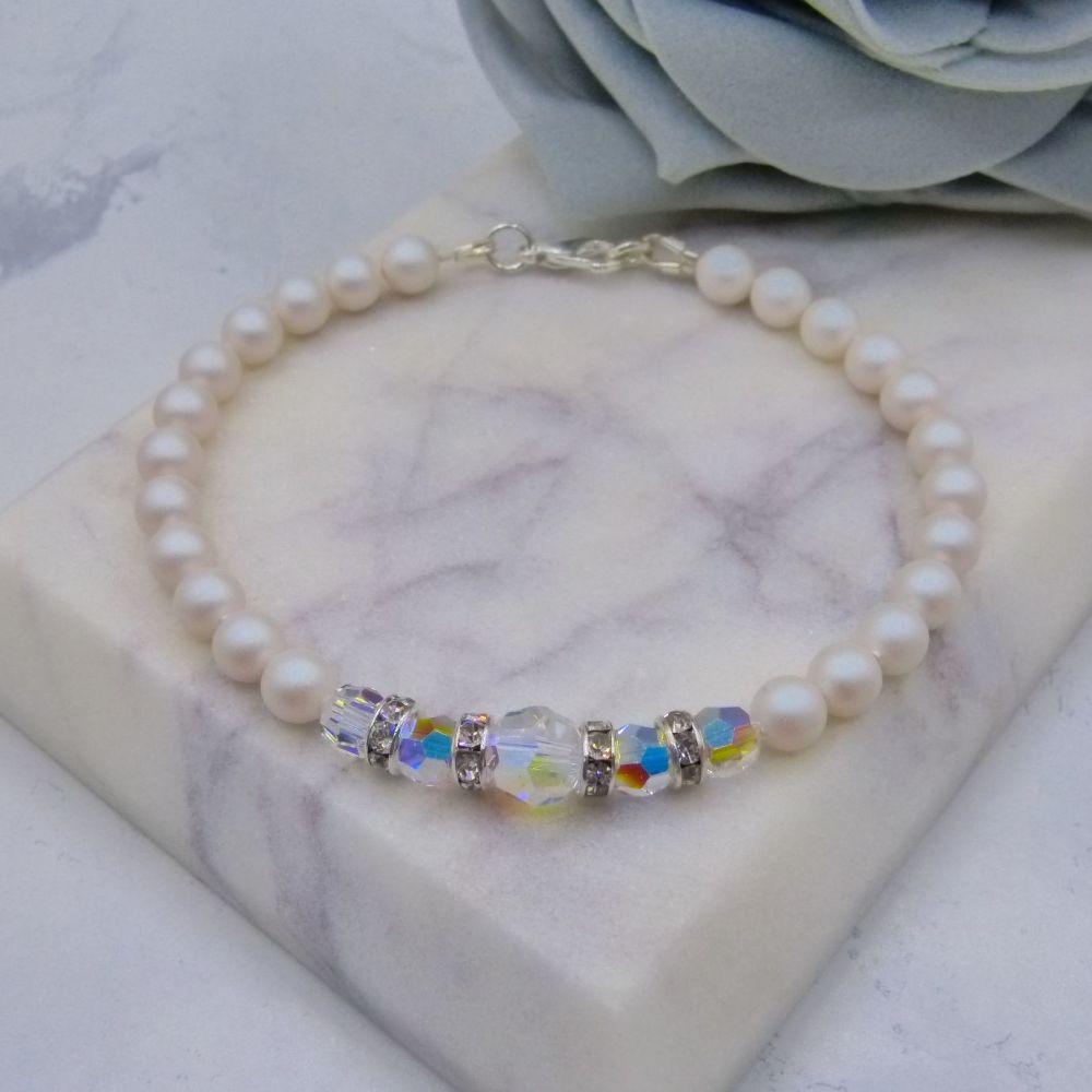 Frances Pearl & Crystal Bracelet