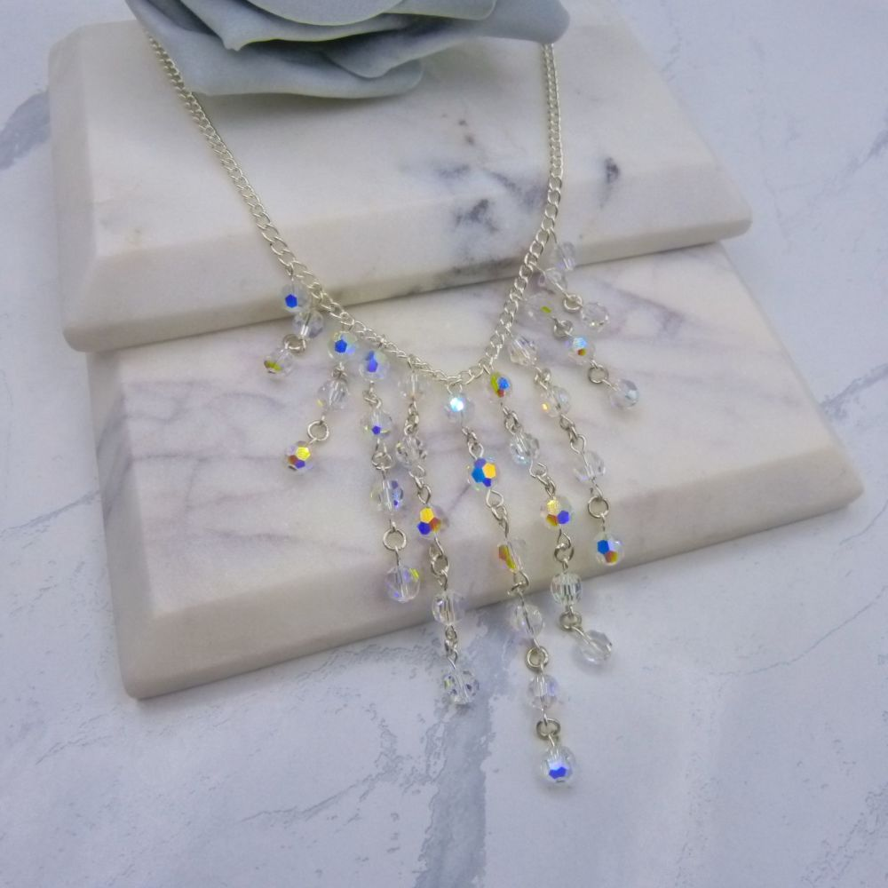 Hepburn Crystal Waterfall Necklace Necklace