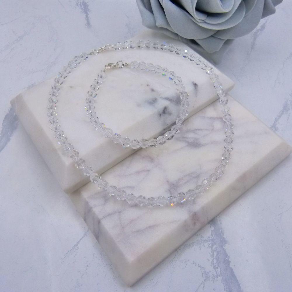 Ariana  Round Crystal Bridal Jewellery Set