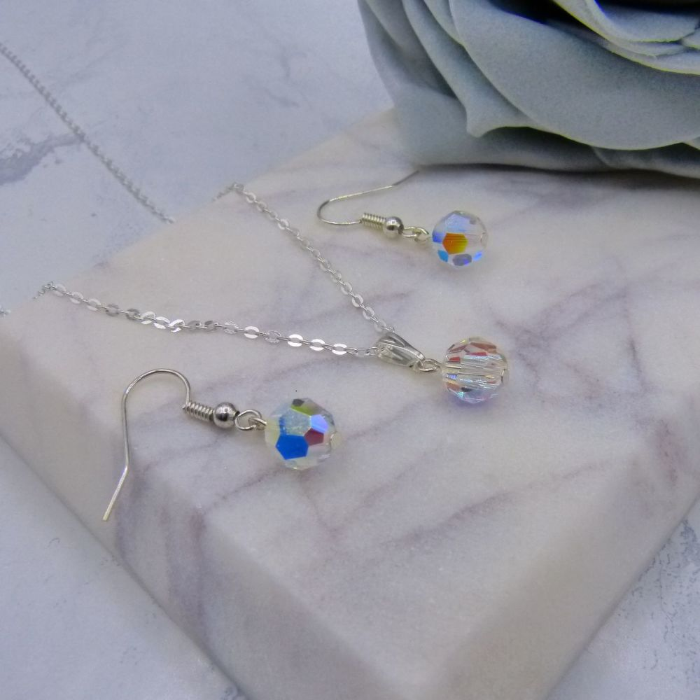 Felicity Delicate Crystal Bridal Jewellery Set