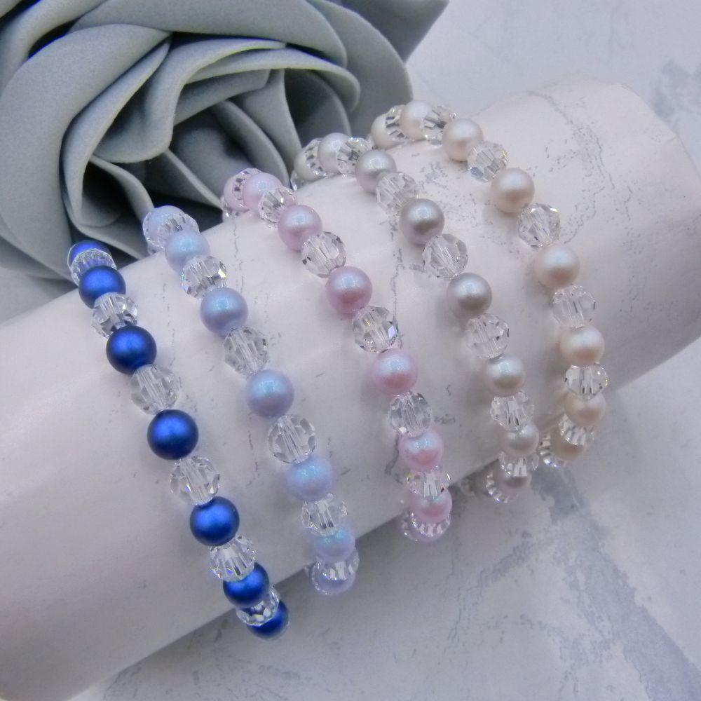 <!-- 005 --> Crystal & Pearl Bracelets