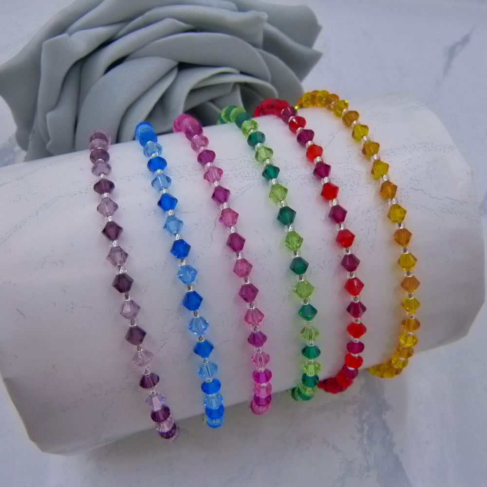<!-- 002 --> Crystal & Pearl Anklets