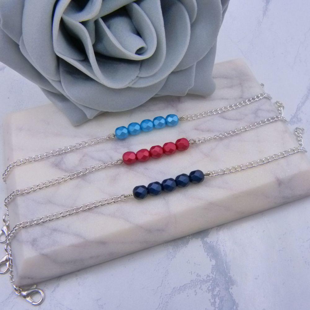 Beaded Bar Bracelet